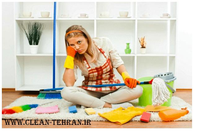 نظافتچی منزل در شمال تهران